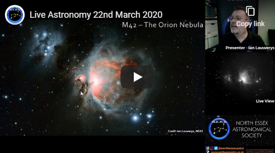 Live Astronomy – 22nd March 2020