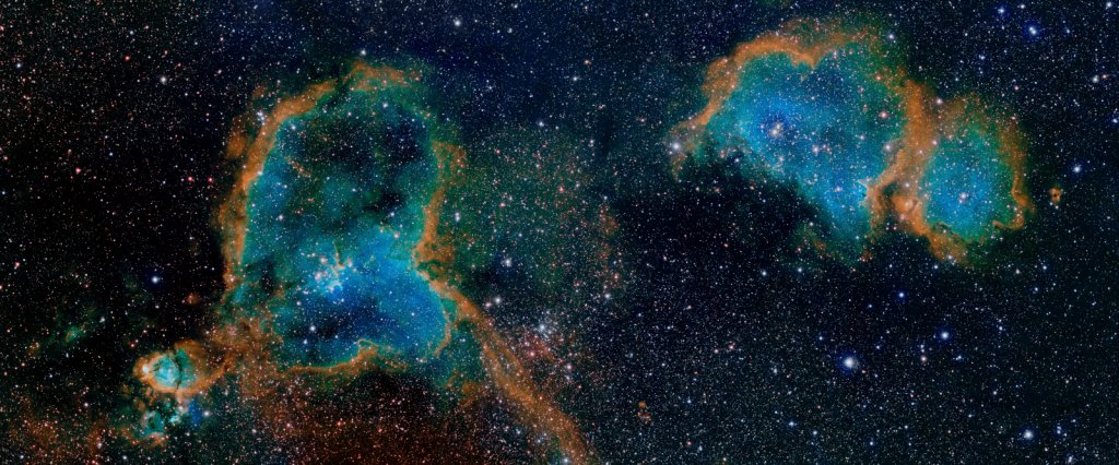 Heart and Soul Nebulae by Ian Lauwerys